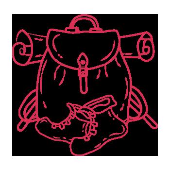 ラブサンシャインバックパッカーズロゴ